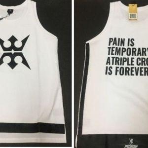 Miggy Men's Long Basketball Sleevless T-Shirt SZ S
